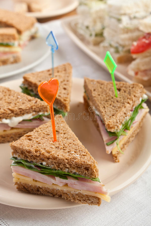 Tea canape sandwiches stock image image of diet stick for Canape sandwich