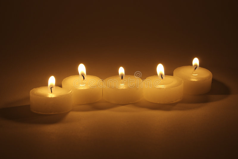 Download Tea Candles stock image. Image of treatment, tranquil - 3515143