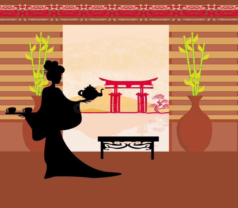 Download Tea ceremony of the geisha stock image. Image of ethnic - 33439697