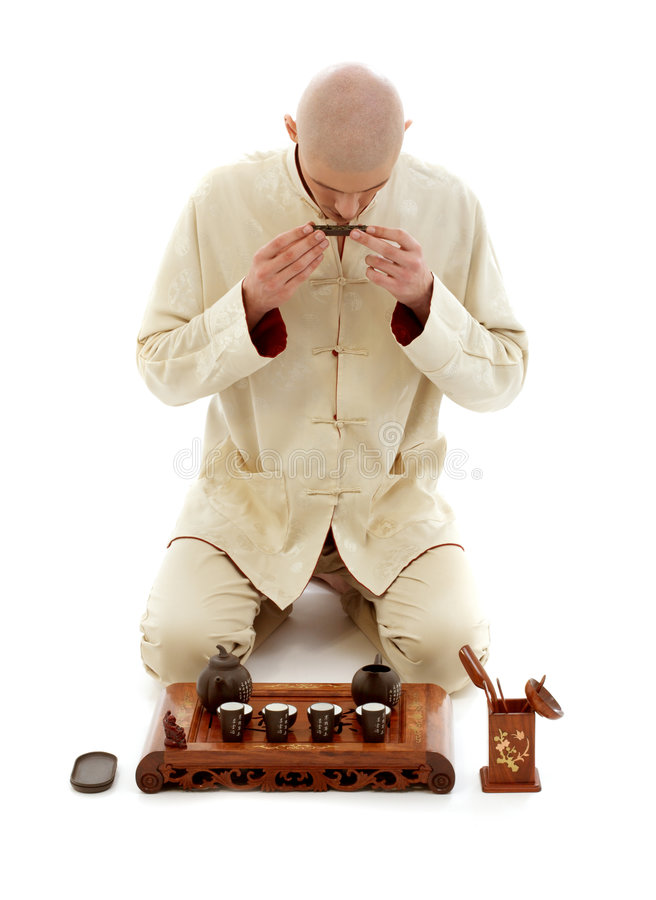 Tea ceremony master stock images