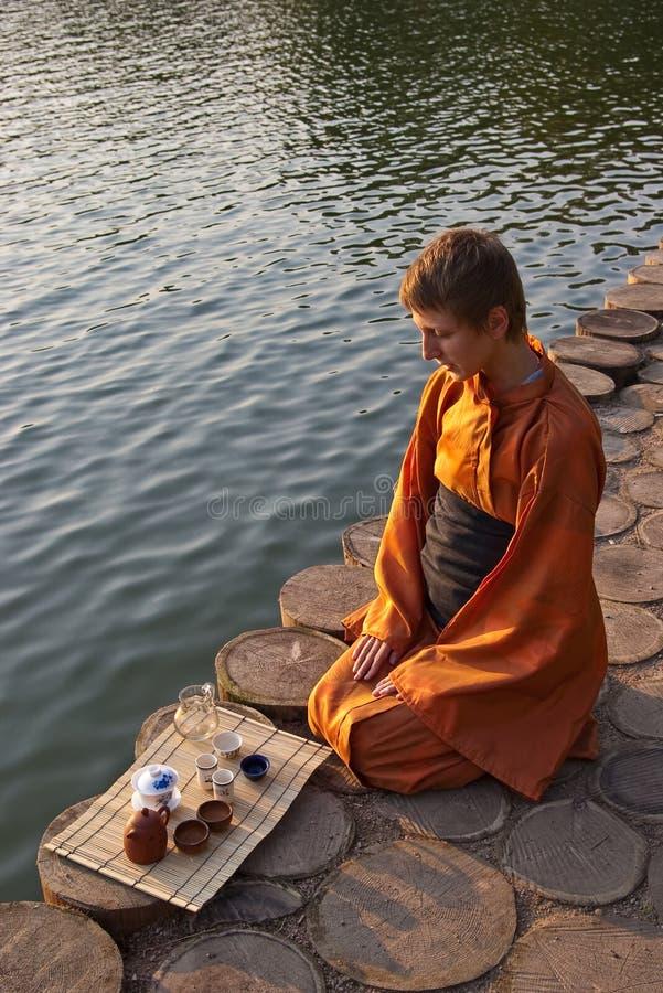 Tea ceremony near the water