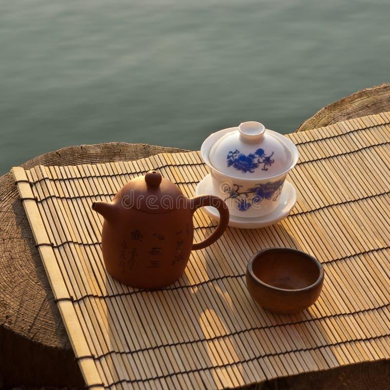 Tea ceremony set royalty free stock images