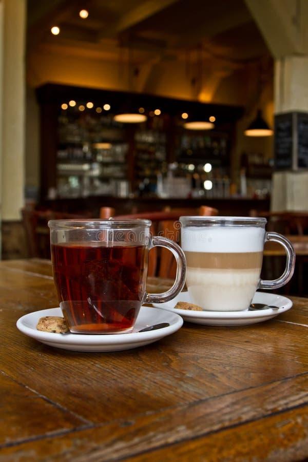 Tea and coffee royalty free stock photo