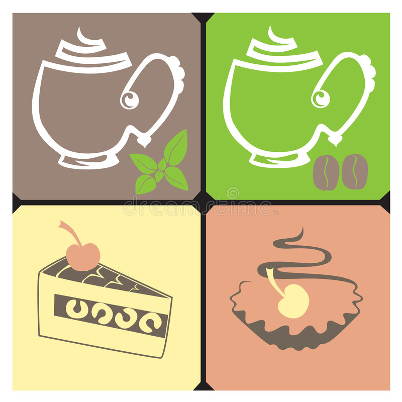 Tea-Coffee stock illustration
