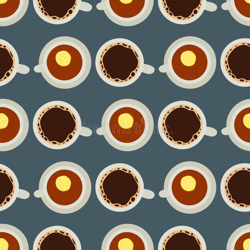 Tea coffee cup vector illustration hot healthy drink relax eating caffeine seamless pattern. Fresh antioxidant herbal organic liquid. Refreshment chinese mint vector illustration