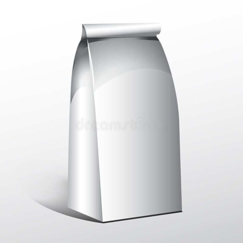 Tea coffee paper bag vector illustration