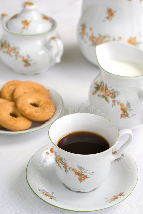 Download Tea or coffee set stock image. Image of chinaware, bright - 2684907