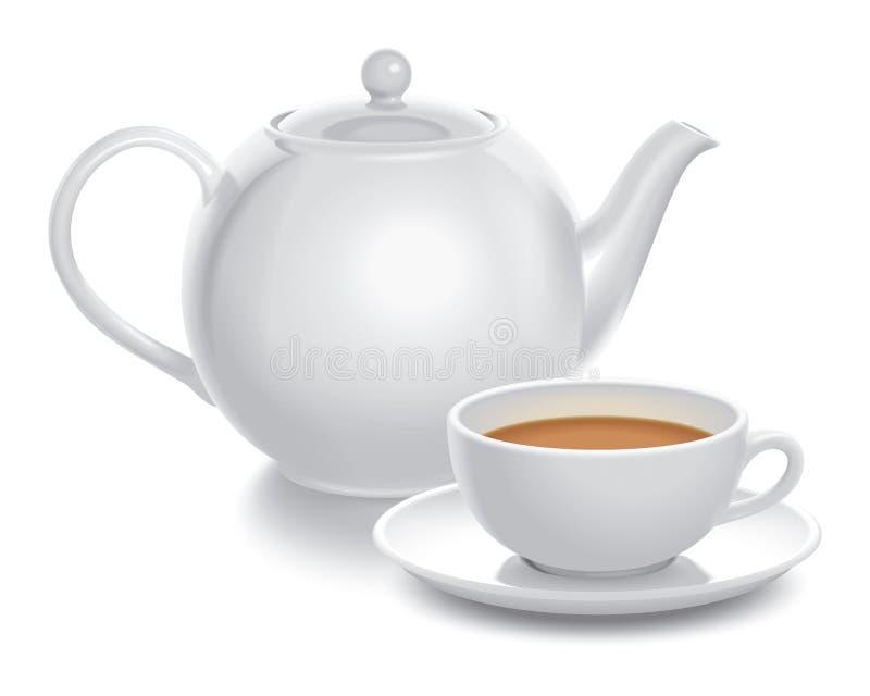 Download Tea composition stock vector. Image of plate, breakfast - 9432843