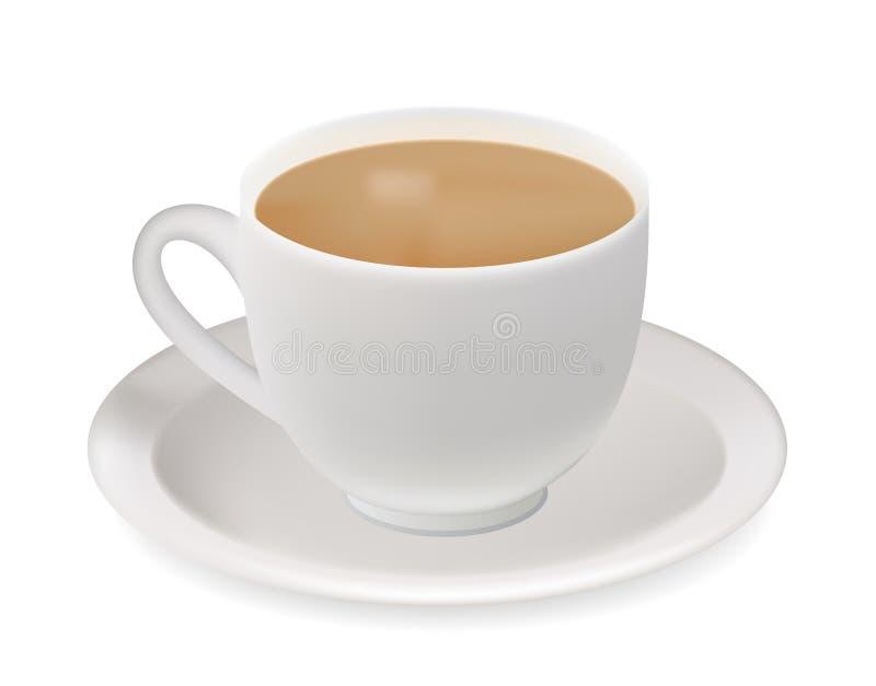 Download Tea cup. stock vector. Image of beverage, contemplation - 14574403