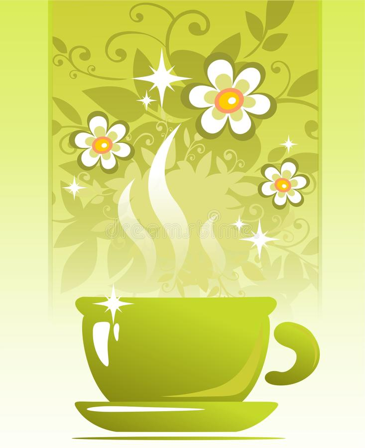 Download Tea cup stock illustration. Image of floral, white, drawing - 18055324