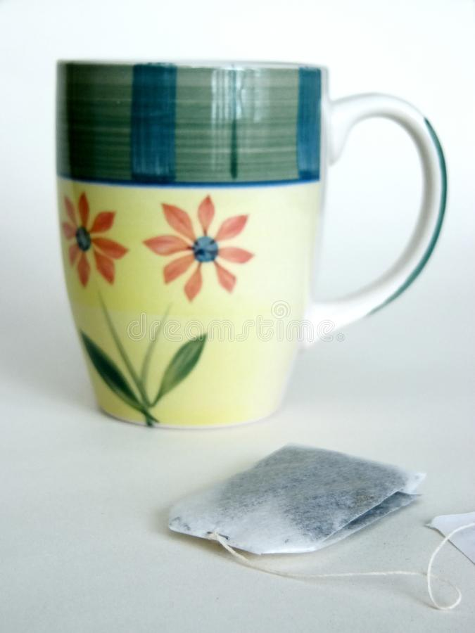Download Tea cup stock photo. Image of caffenestring, paper, relax - 67070