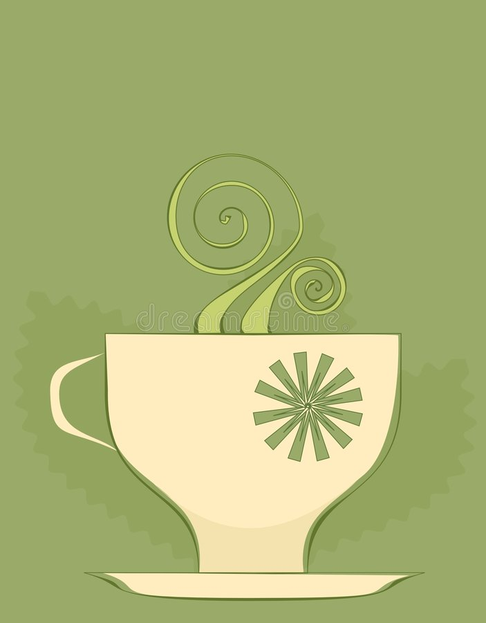 Tea cup background royalty free illustration