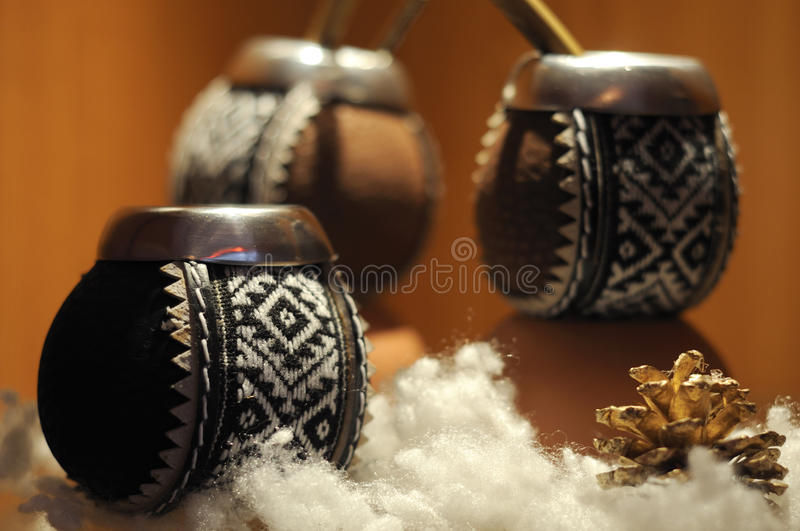 Tea cup ethnic style. Tea cup exposition in real ethnic style royalty free stock images