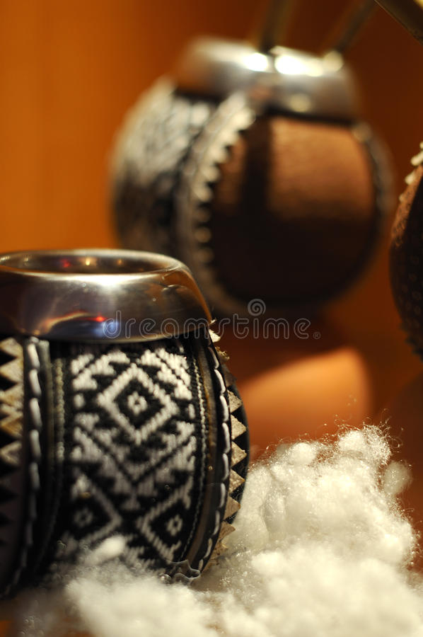 Tea cup ethnic style. Tea cup exposition in real ethnic style stock image