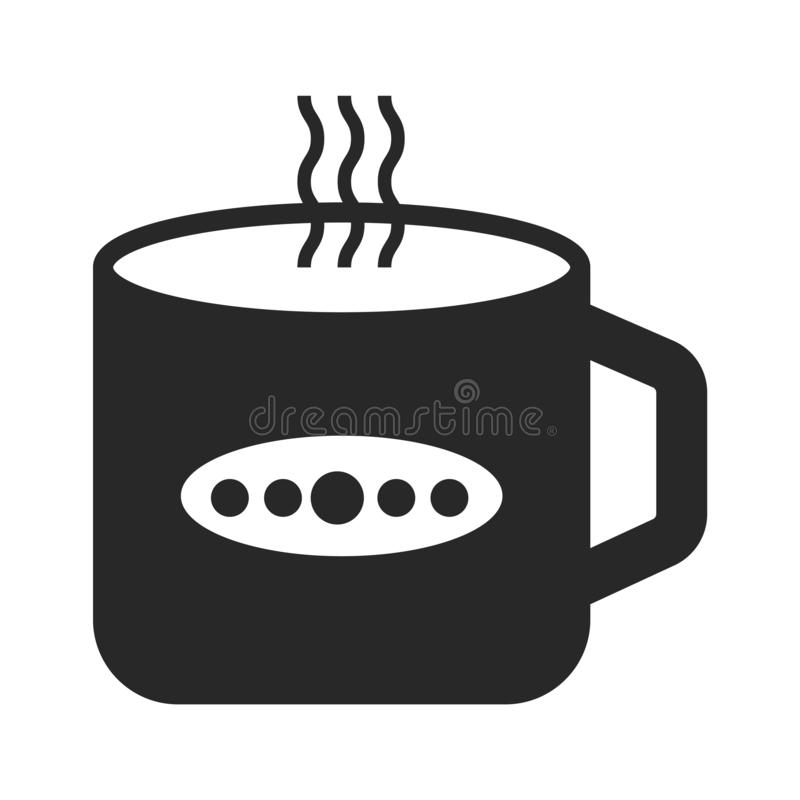 Tea cup icon vector sign and symbol isolated on white background, Tea cup logo concept vector illustration
