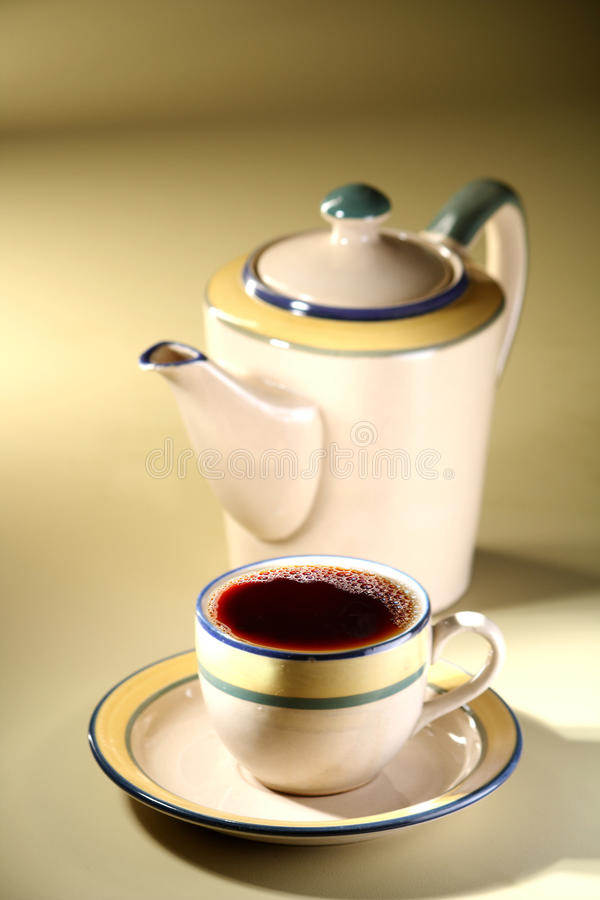 Tea cup and Kettle royalty free stock photography