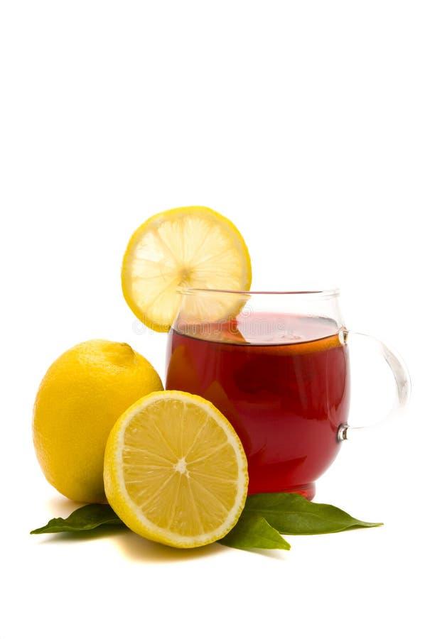 Tea Cup And Lemons Royalty Free Stock Photo