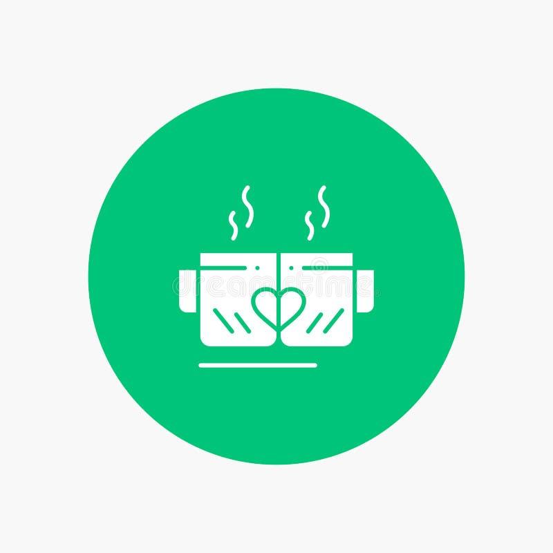 Tea, Cup, Love, Heart, Wedding stock illustration