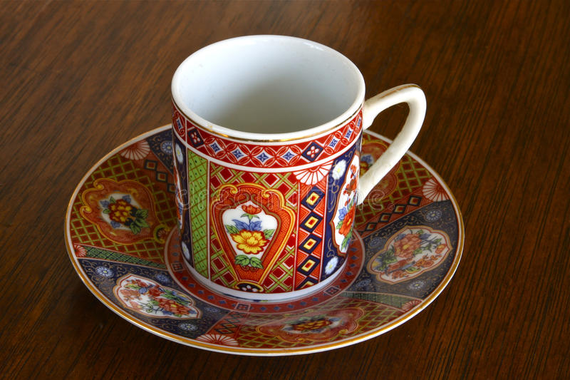 Download Tea cup and saucer stock photo. Image of colorful, kitchen - 12297020