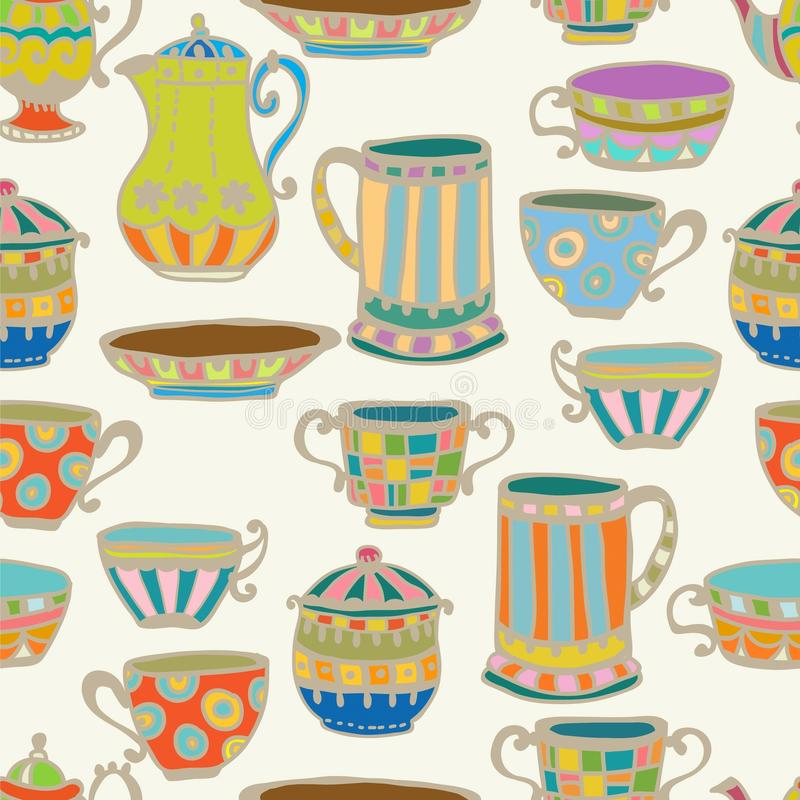 Download Tea Cup Seamless Background Stock Vector - Image: 29878055