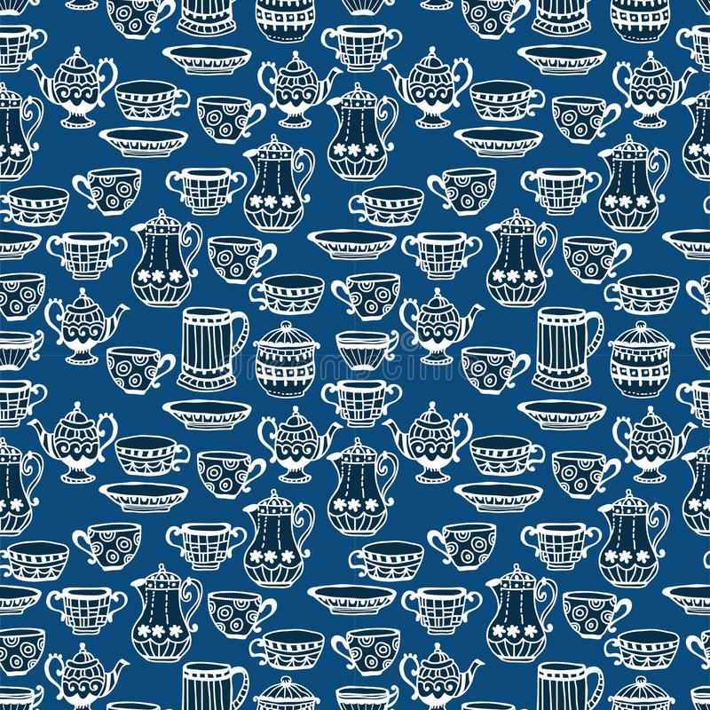 Download Tea Cup Seamless Background Stock Photo - Image: 29878100
