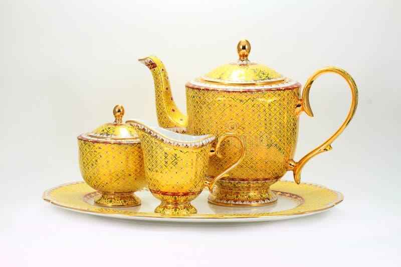 Tea cup set stock photography