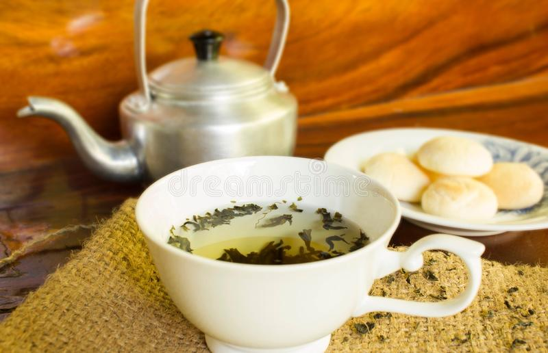 Tea in a cup royalty free stock image