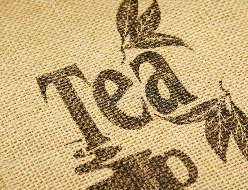 Tea design stock image