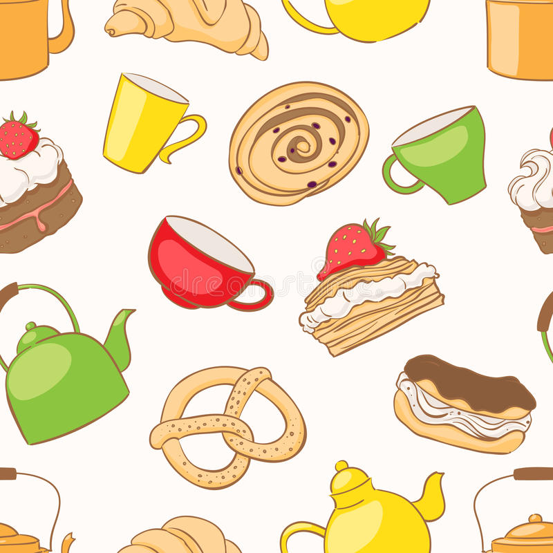 Download Tea and desserts stock vector. Illustration of dough - 28474337