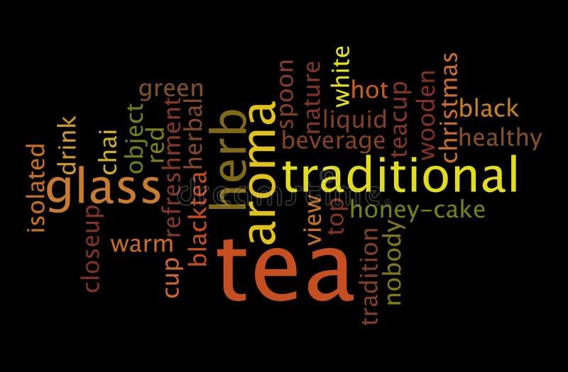Tea drink word cloud concept. Tea drink a word cloud concept stock images