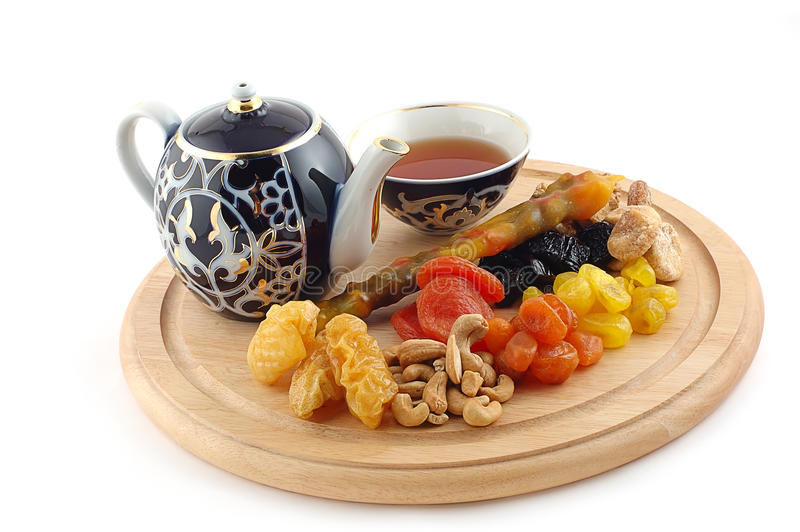Tea with East sweets stock images