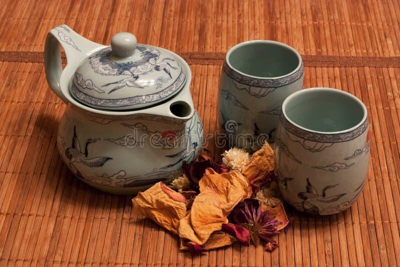tea för 3 torkad petals arkivfoton