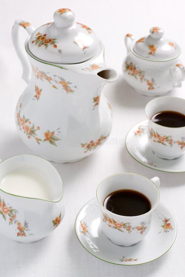 tea för kaffeset royaltyfria foton