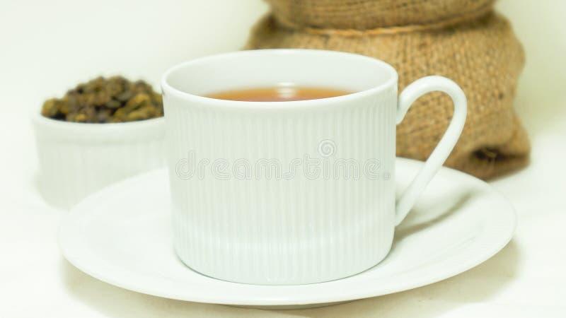 tea för porslin för koppelitoolong fotografering för bildbyråer