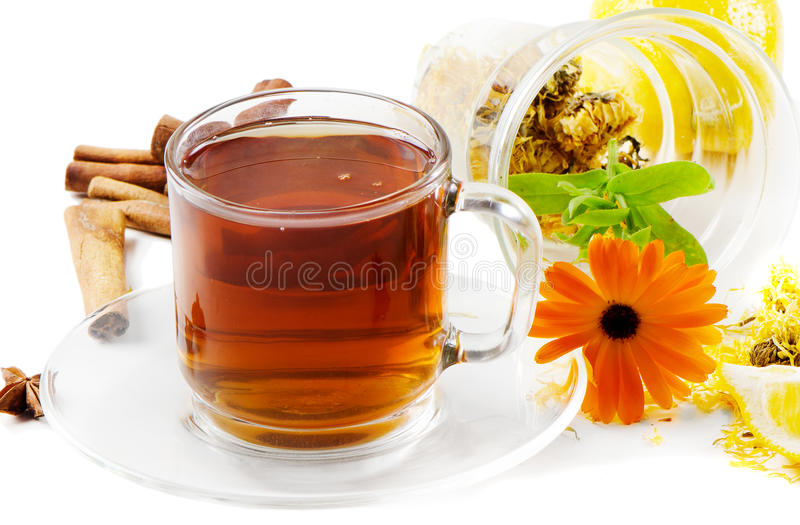 Tea, flower and herbs royalty free stock images