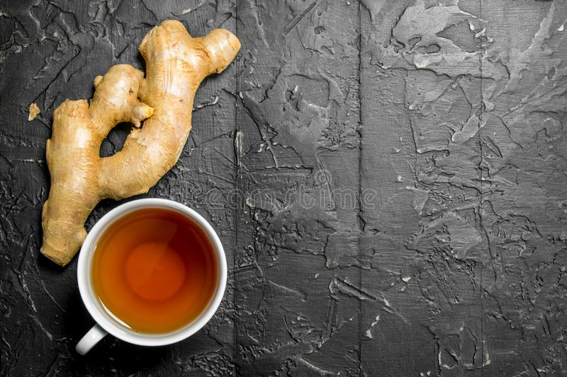 Tea and fresh ginger royalty free stock images