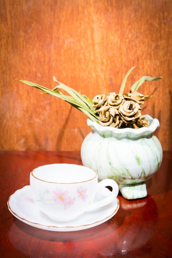 Tea glass vase royalty free stock photos