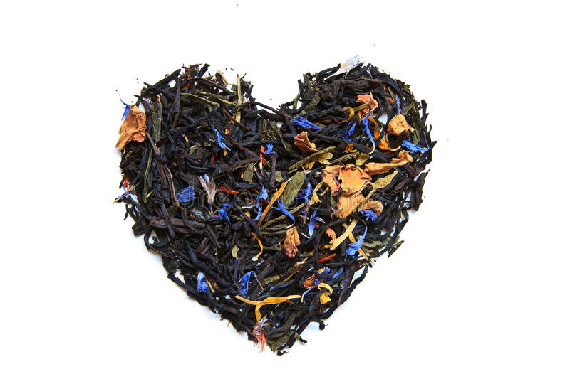 Tea heart royalty free stock images