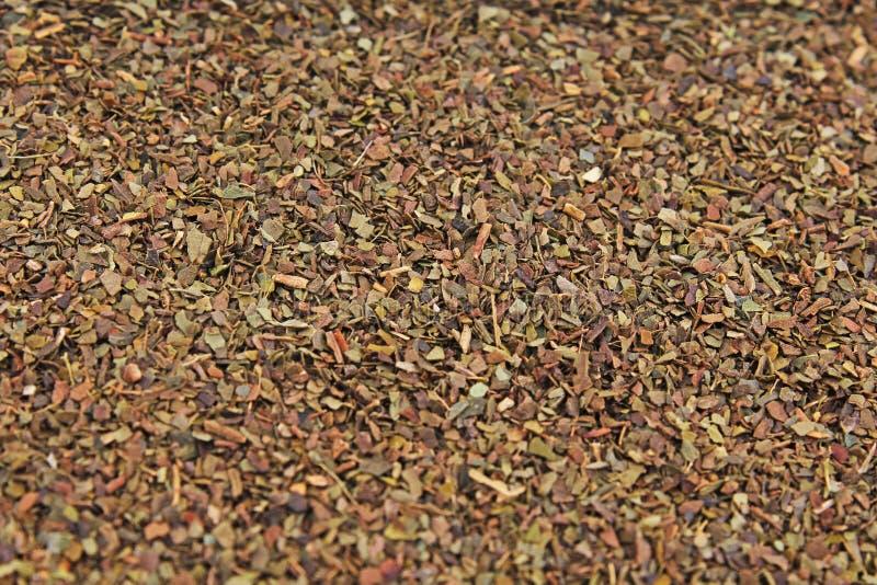Tea herbs texture. Green tea. Organic dried green tea leaves. royalty free stock photos
