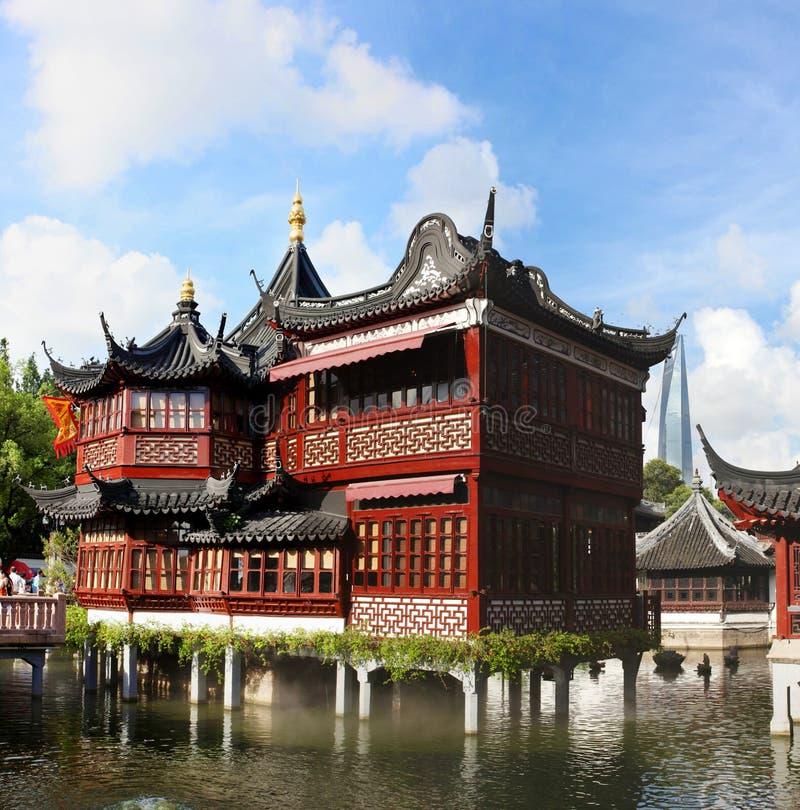 Free Tea House In Yu Garden Stock Image - 15502611