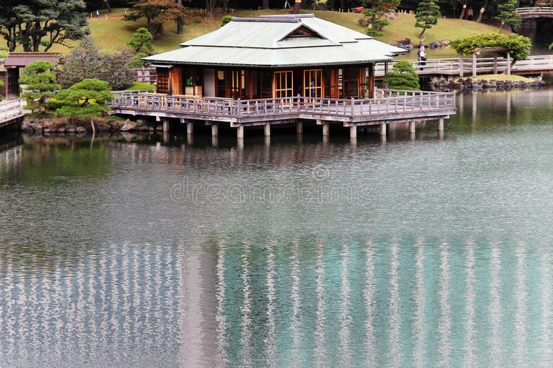 Tea house on the water royalty free stock image