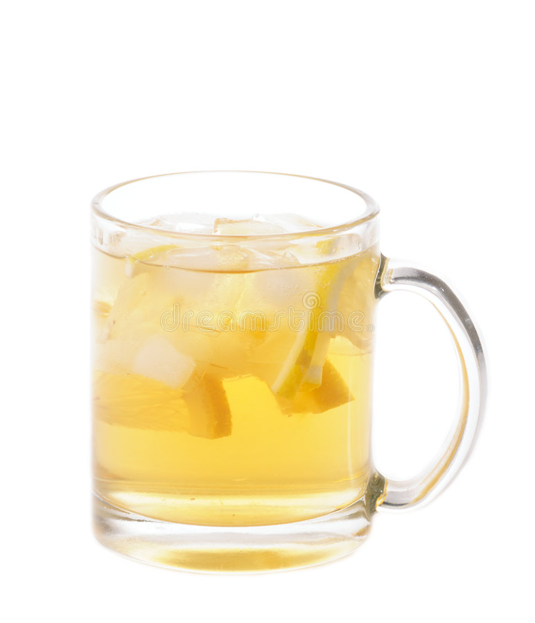 Tea with ice and lemon stock images