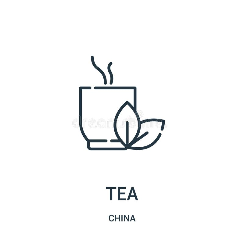 Tea icon vector from china collection. Thin line tea outline icon vector illustration. Linear symbol for use on web and mobile. Apps, logo, print media vector illustration