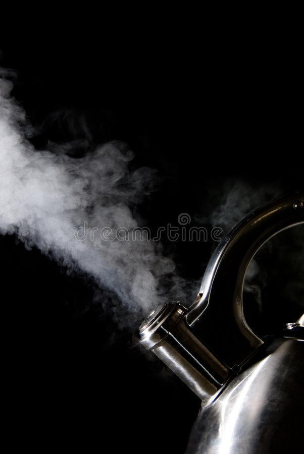 Download Tea Kettle With Boiling Water Stock Photo - Image: 1989126