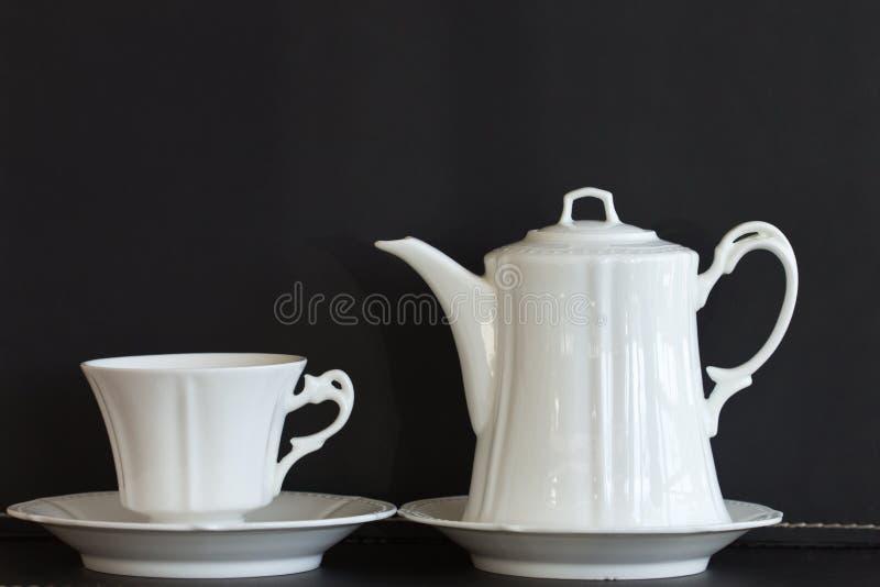 Tea kuper och rånar royaltyfria foton