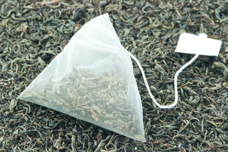 Tea Leaf and Tea Bag royalty free stock images