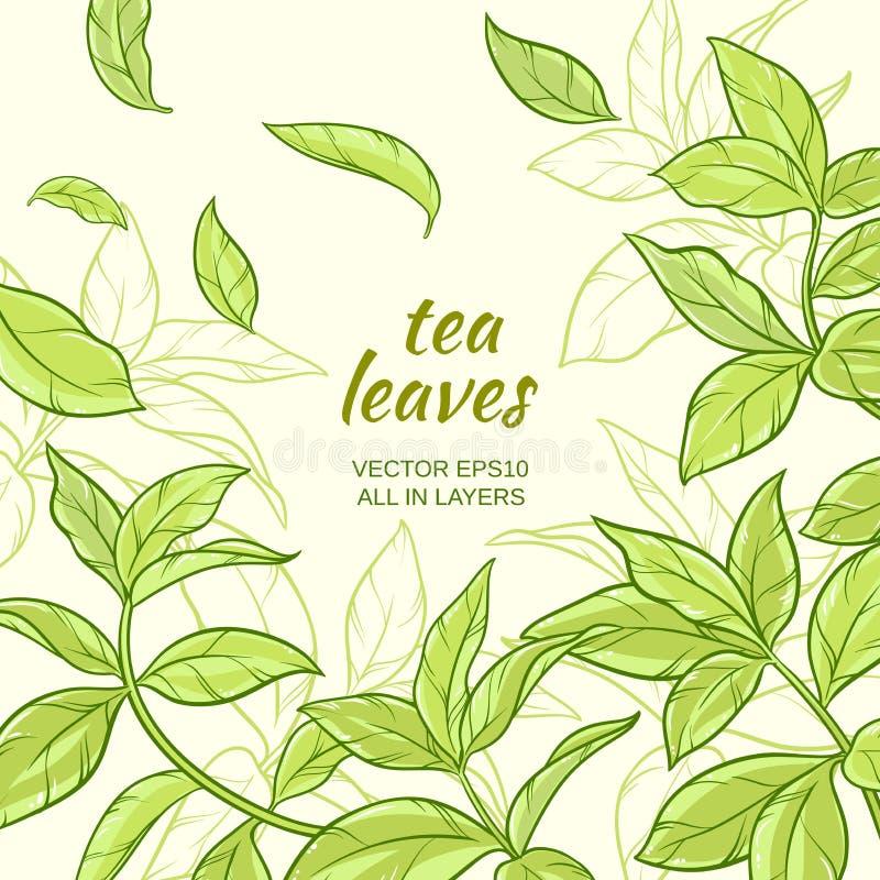 Tea leaves background royalty free illustration