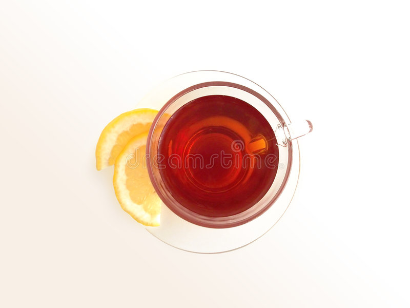 Tea with Lemon 1 (path included) royalty free stock photo