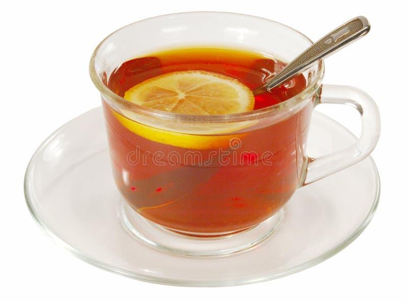 Tea with lemon stock image