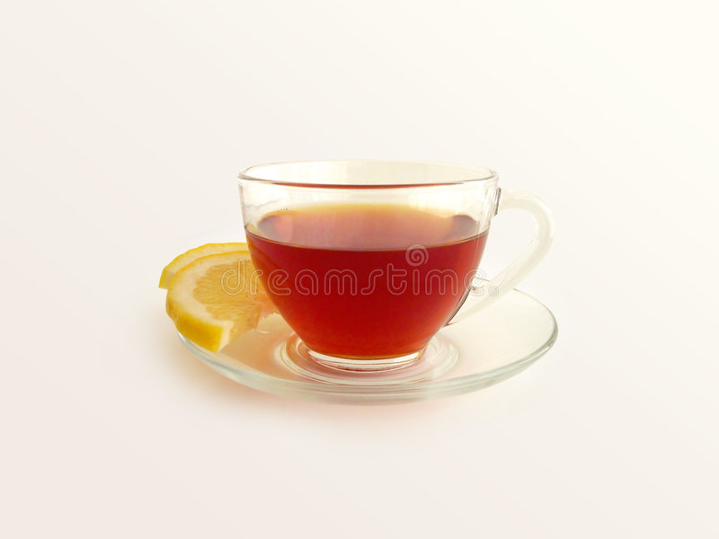 Download Tea With Lemon 2 (path Included_ Stock Image - Image of refreshment, clear: 112167